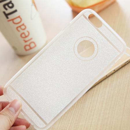 """IPhone 6S  """"Skaidrus baltas"""" telefono dėklas"""