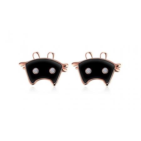 "Auskari ""Meow"", black"